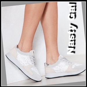 New! One Step At a Time Metallic Sneaker Sz: 10